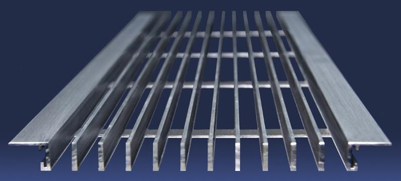 Linear Bar Grilles : Hvacquick dayus dabls a shallow bar linear grilles