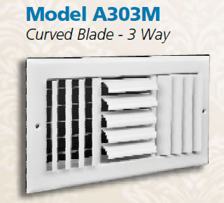truaire A303 triple deflection grilles