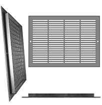 AirScape Custom Flanged Grilles - 3 x 1/4 Inch Rectangle Pattern