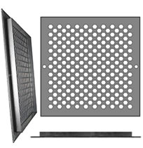 AirScape Custom Flanged Grilles - HEX Honeycomb Pattern