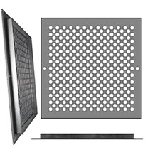 AirScape Custom Flanged Grilles - Staggered 3/8 Inch Diameter Circle Pattern