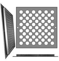 AirScape Custom Flanged Grilles - Staggered 7/8 Inch Diameter Circle Pattern