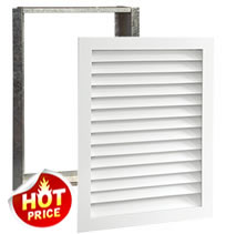Worth Home Products Paint-Grade Premier Series Wood Return Air Filter Grilles