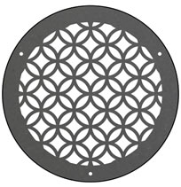 AirScape DesignShape Custom Flat Grilles - Round With Linked Circles Pattern