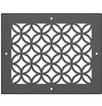 AirScape DesignShape Custom Flat Grilles - Rectangular With Linked Circles Pattern