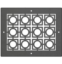 AirScape DesignShape Custom Flat Grilles - Rectangular With Circle in Square Pattern