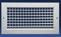 Dayus DAHV Double Deflection Supply Grille With Horizontal Front Blades And Vertical Back Blades