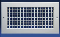 Dayus DAVH Double Deflection Supply Grille With Vertical Front Blades And Horizontal Back Blades