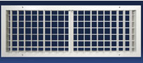 Dayus DAIGVH Double Deflection Industrial Grille WIth Vertical Front Blades And Horizontal Back Blades
