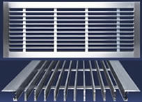 Dayus DABLS-A Shallow Bar Linear Grilles - 1/2 Inch Depth.  Screw Holes in Flange Mounting