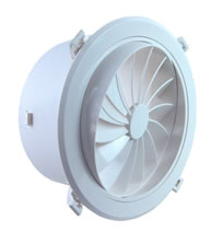 AirScape MVS Round Plastic Diffusers With NO Damper - Swirl Blade Face