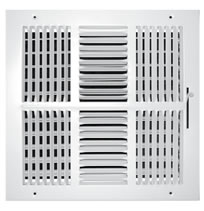 TRUaire Series 104M Stamped 4 Way Sidewall and Ceiling Registers