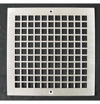 AirScape Custom Flat Perforated Grilles - 1/2 Inch Square Pattern