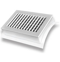 TRUaire SD1W Saddle Mounted Spiral Diffusers White Finish